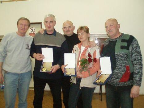 Z ľava - Milan Sobolič, František Krátky, Peter Vačok, Marta Majtasová a Viliam Koberčík